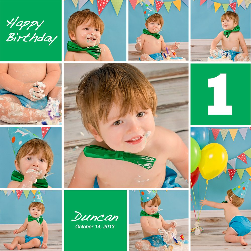 How To Make Cake Smash Collage