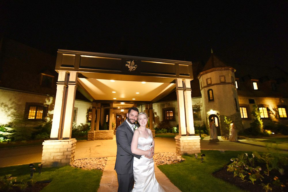 Bride And Groom Standing In Front Of St Georges Golf Country Club Wedding At