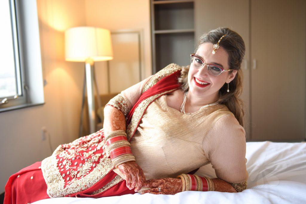 Bride with Mehndi (Henna Tattoo)