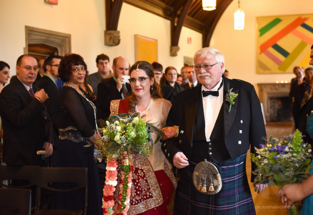 Wedding ceremony at the Hart House in Toronto