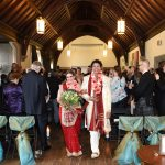 Scottish and Hindu Wedding ceremony in the music room at the Hart house in Toronto