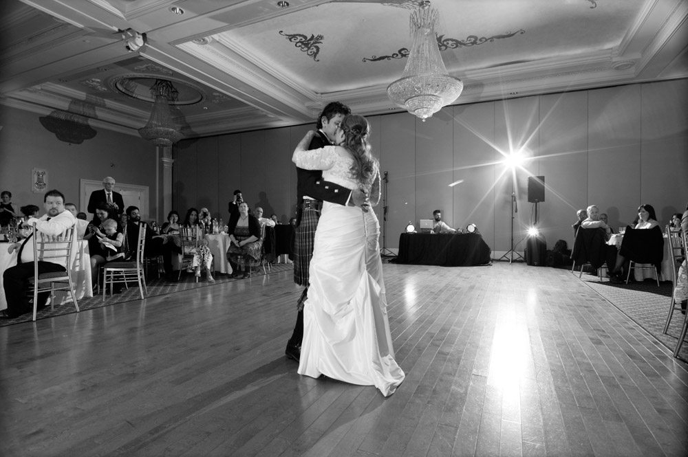 Bride and groom first dance at The Jewel Event Centre in Woodbridge.