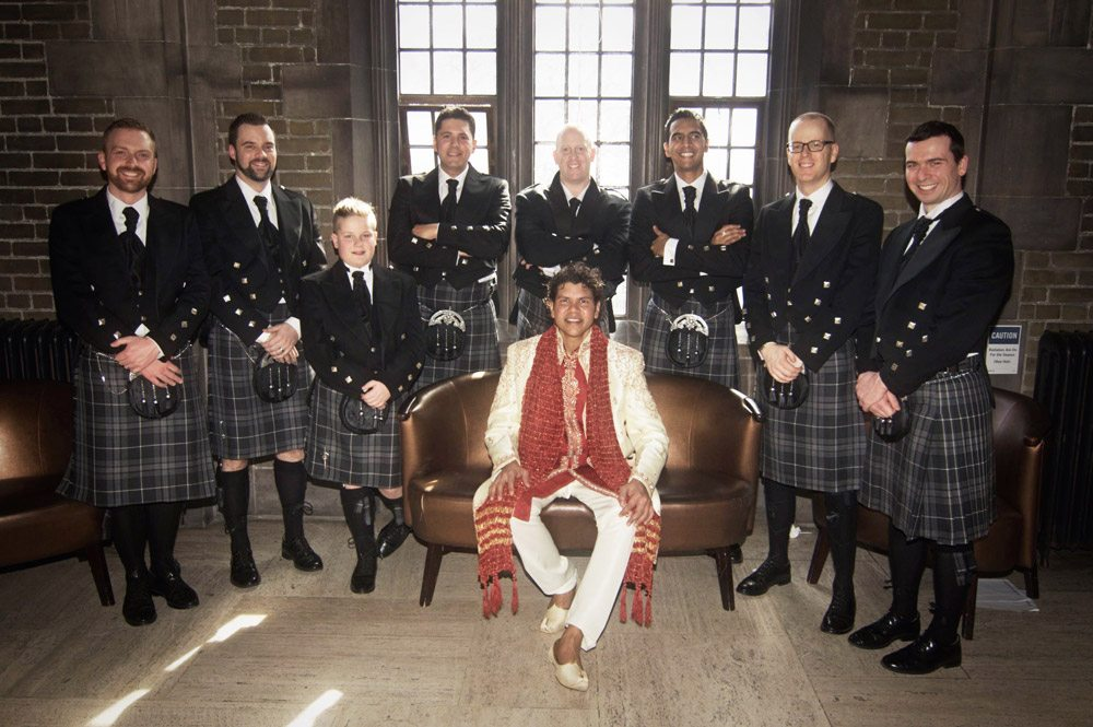 Groom and best men at Hart House in Toronto
