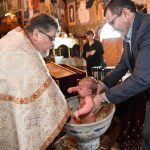 Serbian orthodox baptism The Immersion.