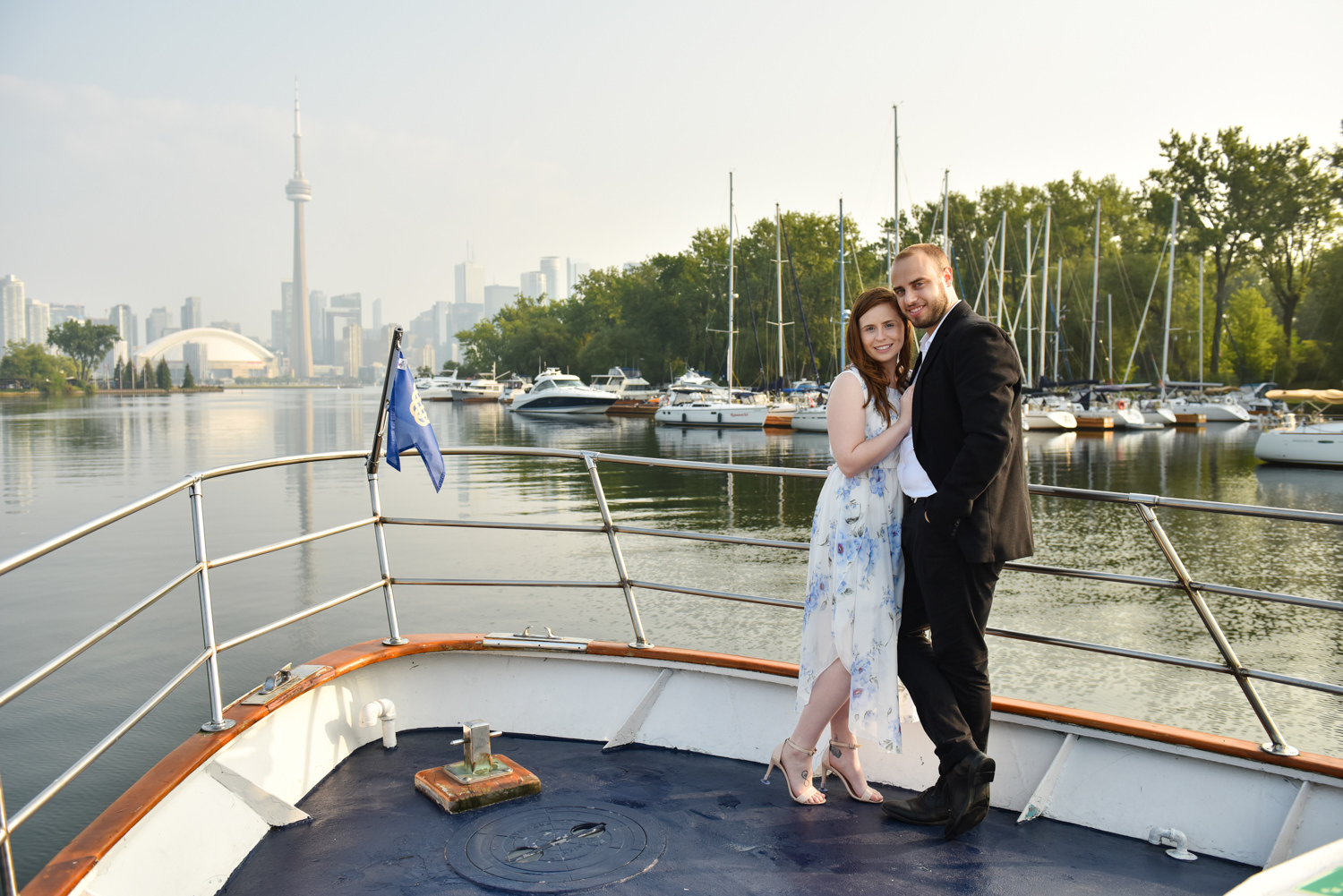 romantic/yacht-engagement-photos Toronto Harbor