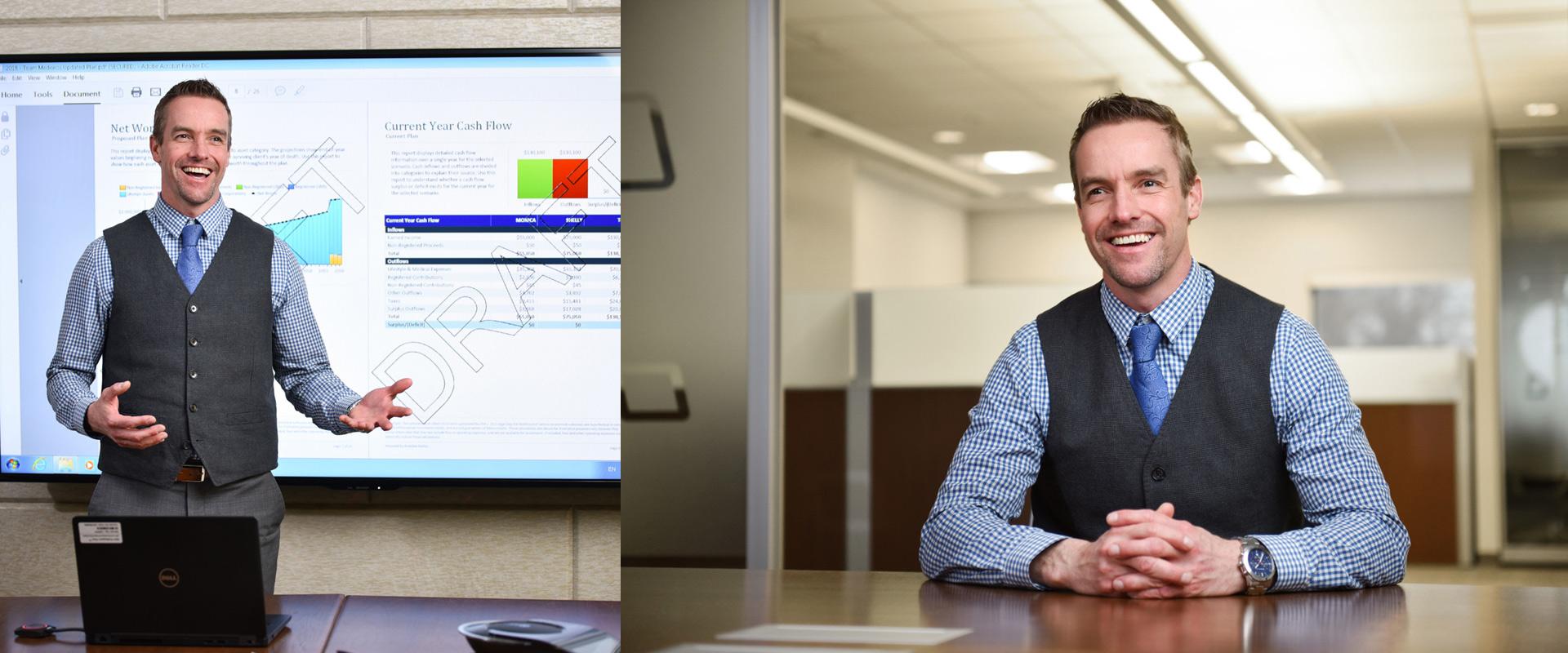 Toronto Corporate photographer Financial Planner.