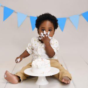Cake face baby photo