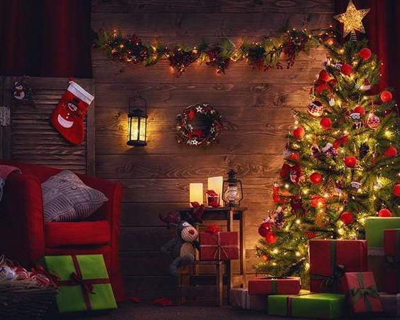 Santa's Workshop Backdrop Rental