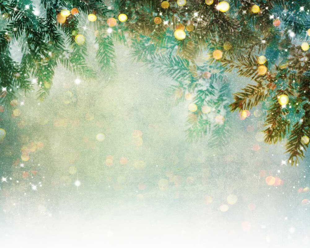 Pine Tree Bokeh Backdrop Rental