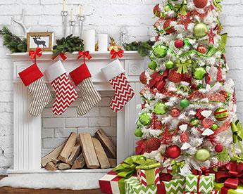 Christmas whimsy living room